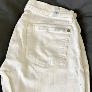 White 7 for All Mankind skinny jeans